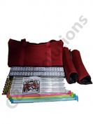 4 Colour Pushers And 4 Clear Racks + American Mah Jong Set Burgundy Red Bag 166 Tiles (Mah Jong Mah Jongg Mahjongg)By C & H Solutions