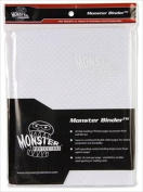 Monster Binders 9PHWHTWHT Binder 9 Pocket Monster Holofoil - White & White Pages