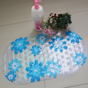 38cm X 70cm Non-slip Bathtub Safety PVC Mat with Suction Pads and Contemporary Design