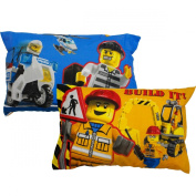2pc Lego Pillowcase Set Lego City Build It Reversible Bed Pillow Covers
