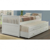 Twin Captain Bed with Trundle Finish