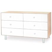 Oeuf Merlin 6 Drawer Dresser - Classic Base - Birch / White