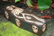 MEDIUM TREASURE CHEST BOX 30cm - SKULL & BONES DECOR