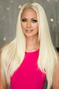 Blonde, Straight Half Wig Or 3/4 Wig Hairpiece Extension