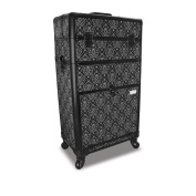 Roo Beauty Tanzania Beauty Trolley Hairdressing Case, Manicure And Nail Case In Imperial Black