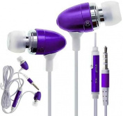 C63 PURPLE HANDSFREE EARPHONES WITH MICROPHONE. FOR for Samsung GALAXY S5 S4 S6, iPhone 6 6 Plus, 5S, 4S, iPad, iPod, MP3 MP4 Players, Macbook Pro and Tablet PC