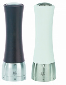 Peugeot Madras Pepper Mill and Salt Mill Set White and Chocolate U-SELECT 21 CM