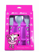 Cutlery set pink