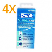 4x Oral B Super Floss, 50 threads