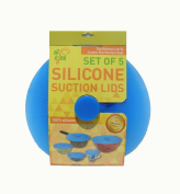Silkitch Set of 5 - Silicone Suction Lids and Food Covers