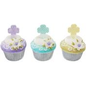 DecoPac Pastel Cross DecoPic Cupcake Picks