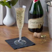 Fineline Settings Flairware Clear 150ml Two-Piece Champagne Flute, 50 Flutes