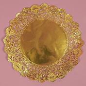 25cm Gold Round Lancaster Paper Doilies 50 Count