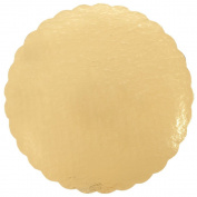 23cm Cake Circle Gold Laminated Corrugated 25 / Pack