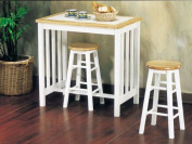 3pc Pack Tile Top Breakfast Table Set #AC 012140