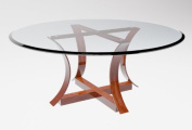 60cm Round Glass Table Top, 1cm Thick, Bevelled Edge, Tempered Glass