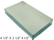 11cm X 6.4cm Optical Glass Rectangular Prism For Educational Or Photography Use, To Refract Light