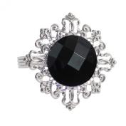 12pcs Diamond Napkin Ring Serviette Holder Rings Table Decorations