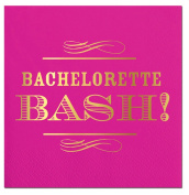 "Slant Cocktail Napkins 20 Count ""BACHELORETTE BASH!"""