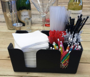 Bar Caddy / Organiser Black BAR SUPPLIES INCLUDED