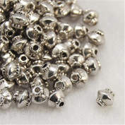Pandahall 100-piece Tibetan Silver Antique Silver Bicone Bead Spacers, Lead Free and Cadmium Free & Nickel Free 5x4.5mm Hole