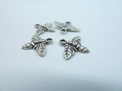 50pcs 12x15mm Antique Silver Lovely Bee Honeybee Charm Pendant C2390