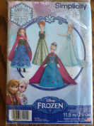 Simplicity Disney Frozen Home Sewing Pattern for 29cm Doll Clothes M0734