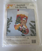 Storybook Felt Stocking Colour Separated Sequins and Beads