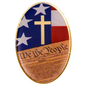 USA Flag Cross Constitution Lapel Pin Set of 4 Pins