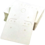 Paper Earring Cards With Bags - Pack of 100 - plain white