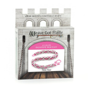 Weave Got Maille 2-Colour Byzantine Chain Maille Bracelet Kit, Think Pink!