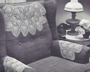 Vintage Crochet PATTERN to make - Doily Chair Set Mat Pineapple Motif Design. NOT a finished item. This is a pattern and/or instructions to make the item only.