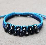Couples Bracelet, Always Bracelet, Forever Bracelet, Infinity Love Bracelet, Wedding Gift, Boyfriend Girlfriend Jewellery, Anniversary Gift