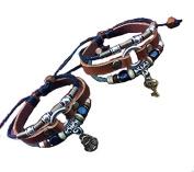 Lovers Leather Bracelet,couples Bracelet,key Lock Bracelet,beads Bracelets, Anniversary Gifts, Bridesmaid Bracelet