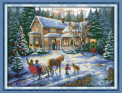 Benway Counted Cross Stitch Return From Christmas 14 Count 57x44cm