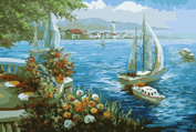 DIY Paint By Number Kits No Mixing / No Blending Linen Canvas Painting - Start Sailing