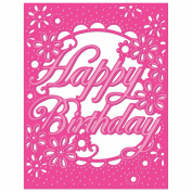 Crafter's Companion Die'sire Create-A-Card Cutting and Embossing Die-Birthday Flowers
