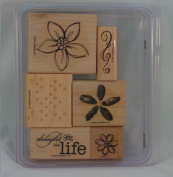 Stampin' Up! DELIGHT IN LIFE Set of 6 Decorative Rubber Stamps Retired