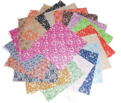 80 13cm Antique Calico Reproductions Charms Quilting Squares