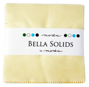 Moda Basics Bella Solids Snow 9900-11 Charm Pack, Set of 42 5-inch (12.7cm) Precut Cotton Fabric Squares