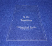 15cm Tumbler Quilt Template - With Seam Allowance -Clear 0.3cm Acrylic
