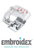 Embroidex Bias Tape Binding Sewing Machine Presser Foot - Fits All Low Shank Sewing Machines Brother Babylock Janome Juki New Home