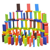 Tenflyer Pack of 120 Mix 10 Colours Wooden Kids Children Domino Game Play Toys