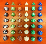 SmartDealsPro Set of 7 Dungeons and Dragons DND RPG MTG Table Games Dice(7 Colours Available)