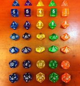 SmartDealsPro 7-Die Series Translucent Dungeons and Dragons DND RPG MTG Table Games Dice