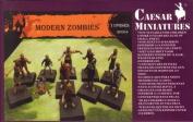Modern Zombies - 1/72 Plastic Figures by Caesar Miniatures