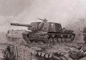 Zvezda 1/72 ISU-152 Soviet Tank Destroyer # 5026