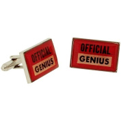 """Ministry of Chaps """"Official Genius"""" Splendid Cufflink Set in Gift Box HM715"""