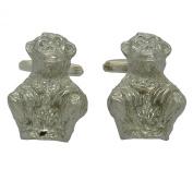 Chimpanzee Cufflinks in Fine Pewter