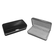 Hinged Lid Crocodile Skin Effect Leatherette Cufflinks Box XLHLCB